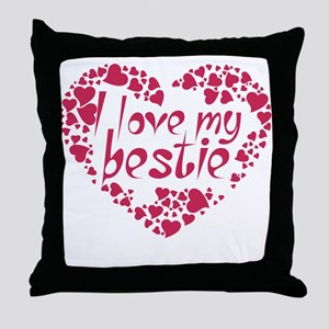 I LOVE MY BESTIE COUPLES DESIGN Throw Pillow